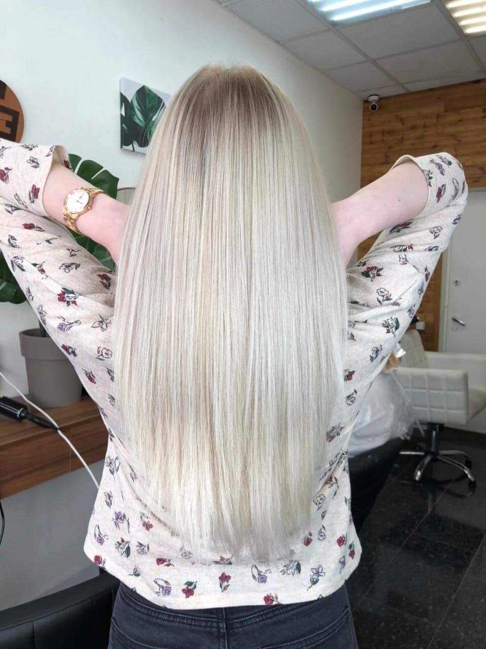 Модное окрашивание волос в один тон